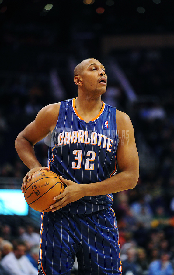 Jan. 26, 2011; Phoenix, AZ, USA; Charlotte Bobcats  forward (32) Boris Diaw against the Phoenix Suns at the US Airways Center. The Bobcats defeated the Suns 114-107. Mandatory Credit: Mark J. Rebilas-