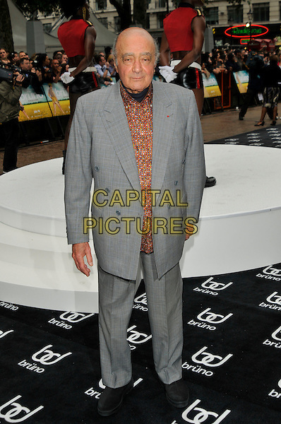 MOHAMED AL FAYED.UK film premiere of 'Bruno', at Empire Leicester Square on 17th June  2009 in London, England.full length mohammed grey gray brown pattern shirt suit  .CAP/PL.©Phil Loftus/Capital Pictures