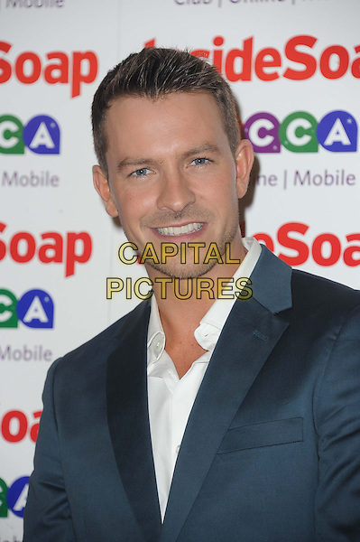 Ashley Taylor Dawson<br /> Inside Soap Awards at Ministry Of Sound, London, England.<br /> 21st October 2013<br /> headshot portrait blue suit jacket white shirt<br /> CAP/DS<br /> &copy;Dudley Smith/Capital Pictures