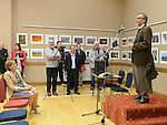 images from the official opening of the Mid-Louth camera club and Lapua camera club Finland exchange exhibition held in St Peter's Church of Ireland parish hall.