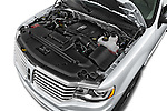 Car Stock2015 Lincoln Navigator Select 5 Door SUV Engine high angle detail view