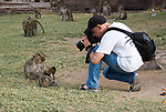 Photographer takes photo of Monkeys