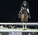 Gerco Schroder on Glock's Zaranza competes during the AirbusTrophy at the Longines Masters of Hong Kong on 20 February 2016 at the Asia World Expo in Hong Kong, China. Photo by Victor Fraile / Power Sport Images