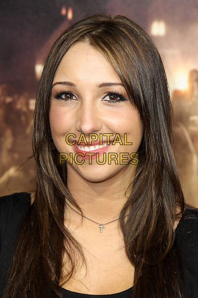 ASHLEY EDNER.Los Angeles Premiere of 'Project X' at Grauman's Chinese Theatre, Hollywood, CA, USA. .February 29th, 2011 .headshot portrait black  .CAP/CEL .©CelPh/Capital Pictures.