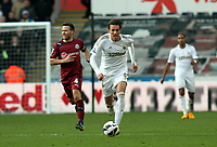 Pictured: Swansea's Michu on a charge<br />