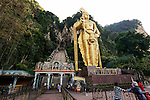 The main entrance to Batu Caves on Wednesday April 24th 2013 in Kuala Lumpur, Malaysia. (Photo by Brian Garfinkel)