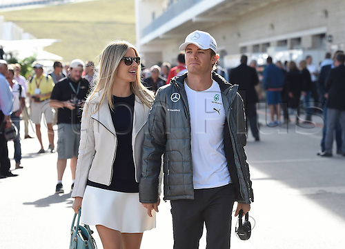 02.11.2014. Austin Texas, USA. FIA Formula One World Championship 2014, Grand Prix of United States. Nico Rosberg; Mercedes Grand Prix, with his girlfriend Vivian,