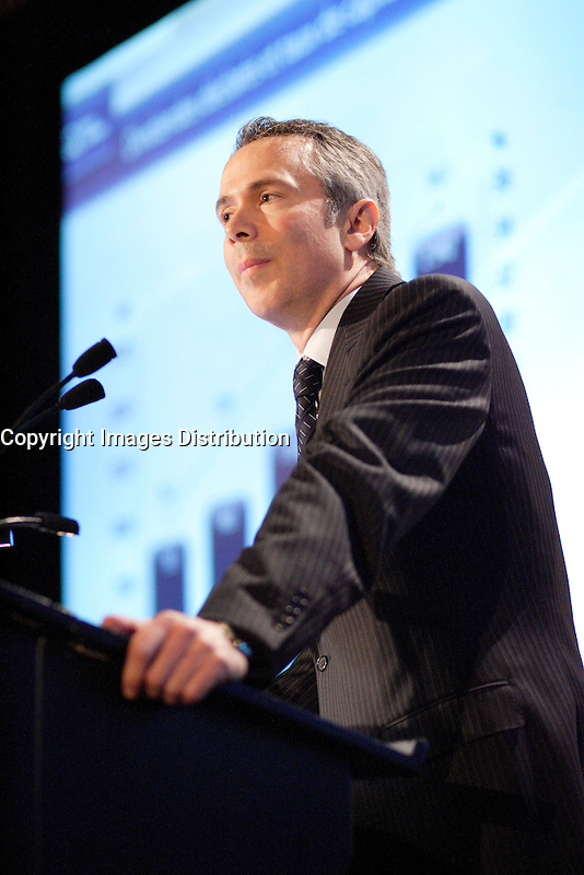 Montreal (QC) Canada,April 30,2007<br /> Thierry Vandal, president and chief executive officer of Hydro-Quebec<br /> speak about the green future of Hydro-Quebec, the state owned energy provider for Quebec province, ,April 30,2007<br /> <br /> <br /> photo (c) 2007  Pierre Roussel-  Images Distribution