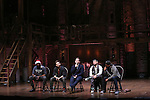 Nik Walker, Neil Haskell, Rory O'Malley, Roddy Kennedy and J. Quinton Johnson during a Q & A before the Gilder Lehman Institute of American History Education Matinee of 'Hamilton' at the Richard Rodgers  Theatre on December 15, 2016 in New York City.