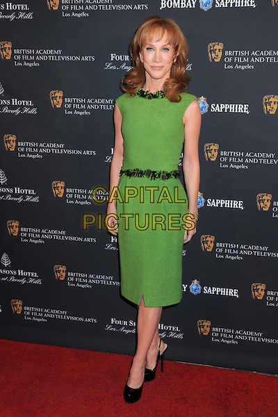 KATHY GRIFFIN .17th Annual BAFTA Los Angeles Awards Season Tea Party held at the Four Seasons Hotel, Beverly Hills, California, USA, 15th January 2011..full length green dress  belt shoes black platform sleeveless .CAP/ADM/BP.©Byron Purvis/AdMedia/Capital Pictures.