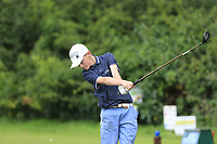 James O'Rourke (Naas) during the Connacht U14 Boys Amateur Open, Ballinasloe Golf Club, Ballinasloe, Galway,  Ireland. 10/07/2019<br /> Picture: Golffile | Fran Caffrey<br /> <br /> <br /> All photo usage must carry mandatory copyright credit (© Golffile | Fran Caffrey)