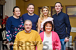 Alice and Gerry Harris of Tralee celebrating their 40th wedding anniversary with the family in the Brogue Inn on Saturday night last. Seated, Gerry and Alice Harris.<br /> Standing l-r, Sharon, Kenneth and Gillian Harris and Lee McCord.