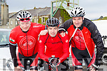 Dingle cyclists Pat Fitzgerald, Michael Moriarty and Cian Higgins who competed in the 3 Climbs cycle in Killarney on Saturday