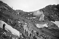 up the dirt roads of the Colle delle Finestre (2178m) towards the finish<br /> <br /> Giro d'Italia 2015<br /> stage 20: Saint Vincent - Sestriere (199km)