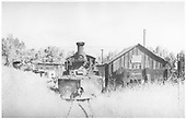 K-27 #461 front view on roundhouse lead.<br /> RGS  Ridgway, CO
