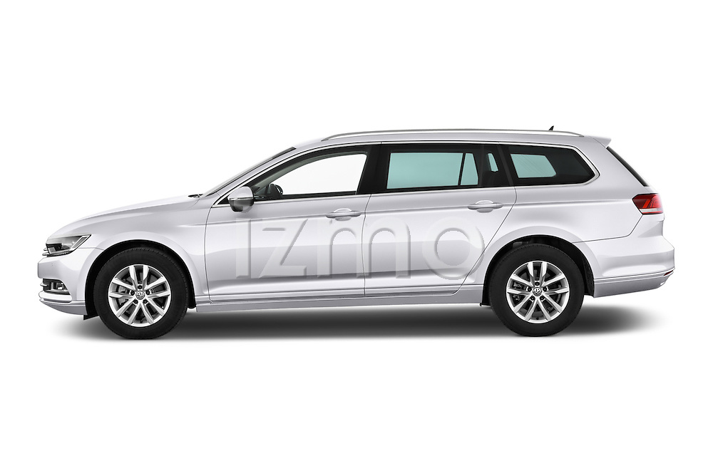 Car Driver side profile view of a 2015 Volkswagen Passat Comfort 5 Door Wagon Side View