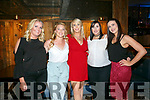 Girls night out at the Ashe Hotel on Saturday were Amy Horgan, Alison O'Connor, Stephanie Horan, Stephanie Horan, Katie Guina and Clare Savage
