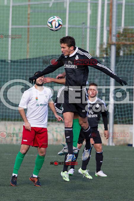 Real Madrid Castilla&acute;s Jaime Sanchez during 2014-15 Spanish Second Division B match between Trival Valderas and Real Madrid Castilla at La Canaleja stadium in Alcorcon, Madrid, Spain. February 01, 2015. (ALTERPHOTOS/Luis Fernandez) /NortePhoto<br /> /NortePhoto.com