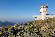 The Sherman Adams building on the summit of Mount Washington in the White Mountains, New Hampshire USA.