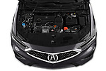 Car stock 2019 Acura ILX Premium 4 Door Sedan engine high angle detail view