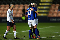 Inessa Kaagman of Everton women  is congratulated after scoring the second goal during Tottenham Hotspur Women vs Everton Women, Barclays FA Women's Super League Football at the Hive Stadium on 12th February 2020