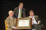 Dr Kevin Cahill from Rathmore, County Kerry, now retired in New York who was recipient of the inaugural 'Friend of Kerry' pictured with Kerry Mayor Terry O'Brien and county manager Tom Curran at Siamsa Tire, Tralee on Tuesday Picture by Don MacMonagle..BIO:.As a distinguished doctor of medicine, Dr. Kevin Cahill has not only treated patients including Pope John Paul II and Ronald Reagan, but has offered his vast expertise to a number of national and international organizations including the United Nations and the New York Police Department, where he is chief medical advisor for counterterrorism. These efforts to aid human suffering come as no surprise considering that Cahill began his medical career in 1961, studying tropical disease in the slums of Calcutta beside Mother Theresa.  Cahill's relief efforts have since spanned the globe and include treating refugees in Sudan, serving concurrently as the special assistant to the governor of health affairs, chairman of health planning commission, and chairman of the Health Research Council of New York State. Cahill has cared for patients in 65 countries in some of the most war-torn places in the world, and was among the first to predict the famine in Somalia and has been caught behind the lines of armed conflict in Beirut and Managua...From 1969-2006 he was chairman of the department of tropical medicine at the Royal College of Surgeons in Ireland, where he taught over 4,000 medical students over the course of his career. In addition, he has been director of the tropical disease center at Lenox Hill Hospital, clinical professor of tropical medicine and molecular parasitology at NYU Medical School, and the consultant in tropical medicine for the United Nations Health Services...Cahill's accomplishments are many: He has received 27 honorary doctorate degrees and written a string of influential works that chronicle his experiences as a tropicalist and a physician, as well as articles and essays on his love for Irish literat
