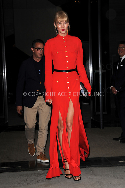 www.acepixs.com<br /> September 8, 2016  New York City<br /> <br /> Karlie Kloss attending the The Daily Front Row's 4th Annual Fashion Media Awards at Park Hyatt New York on September 8, 2016 in New York City. <br /> <br /> <br /> Credit: Kristin Callahan/ACE Pictures<br /> <br /> <br /> Tel: 646 769 0430<br /> Email: info@acepixs.com