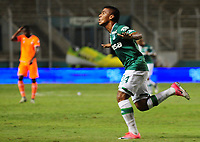PALMIRA - COLOMBIA-08-07-2017: Cesar Amaya jugador del Deportivo Cali celebra después de anotar un gol a Atlético Nacional durante partido por la fecha 1 de la Liga Aguila II 2017 jugado en el estadio Palmaseca de la ciudad de Palmira. / Cesar Amaya player of Deportivo Cali celebrates after scoring a goal to Envigado FC during match for the date 1 of the Aguila League II 2017 played at Palmaseca stadium in Palmira city.  Photo: VizzorImage/ Nelson Rios /Cont