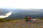 9. VIEW FROM SOLOMON'S DOME, DAWSON CITY; YUKON, CANADA.