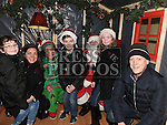 The Carrie family pictured with Santa and Bubbles in Ardee Castle. Photo:Colin Bell/pressphotos.ie