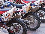 Dirt Bikes - Rally dirt bikes, Australasian Safari Rally 2008, Forrest Place, Perth, Western Australia