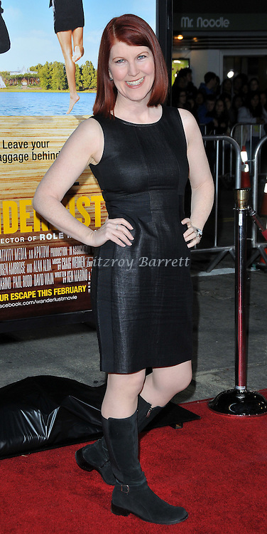 Kate Flannery at the World Premiere of Wanderlust held at the Mann Village in Westwood, CA.. February 16, 2012