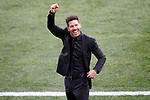 Atletico de Madrid's coach Diego Pablo Cholo Simeone celebrates goal during La Liga match. March 19,2017. (ALTERPHOTOS/Acero)