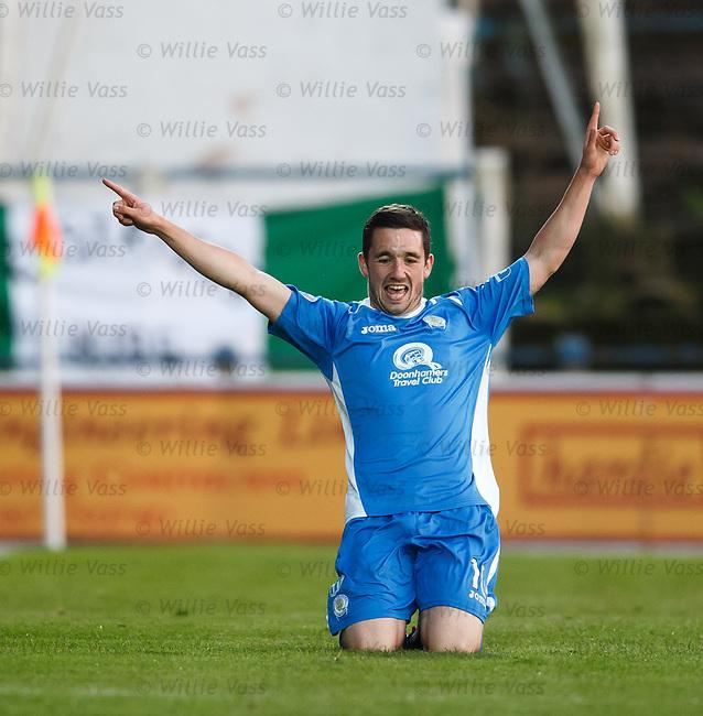 Nicky Clark celebrates his goal for QOS