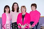Carmel O'Riordan, Joanna Hourigan, Maria Brosnan and Kathleen Ryan enjoying the Pink Night Womens Christmas in Kilcummin on Saturday night