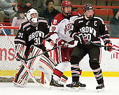 Marco De Filippo (Brown - 31), Brian Hart (Harvard - 39), Dennis Robertson (Brown - 20) - The Harvard University Crimson defeated the visiting Brown University Bears 3-2 on Friday, November 2, 2012, at the Bright Hockey Center in Boston, Massachusetts.