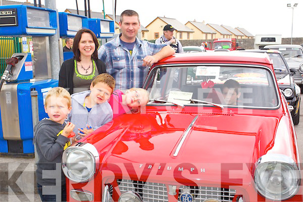 Owen, Luke, Dolores, Jessica and Austin Stack (Ballydonoghue, Lisselton) pictured at Castlemaine vintage day on Sunday.