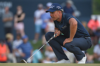 Henrik Stenson (SWE)  lines up his putt on 18 during round 4 of the Houston Open, Golf Club of Houston, Houston, Texas. 4/1/2018.<br /> Picture: Golffile | Ken Murray<br /> <br /> <br /> All photo usage must carry mandatory copyright credit (&copy; Golffile | Ken Murray)