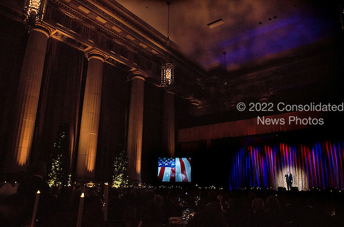 United States President-Elect Donald Trump delivers remarks at the Chairman's Global Dinner, at the Andrew W. Mellon Auditorium in Washington, D.C. on January 17, 2017. The invitation only black-tie event is a chance for Trump to introduce himself and members of his cabinet to foreign diplomats. <br /> Credit: Kevin Dietsch / Pool via CNP