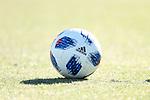 MARIETTA, GA - DECEMBER 06: Adidas Nativo MLS ball. The MLS Cup 2018 Team Training Sessions were held on December 6, 2018 at the Children's Healthcare of Atlanta Training Ground in Marietta, GA.