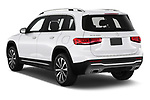 Car pictures of rear three quarter view of a 2020 Mercedes Benz GLB GLB250 5 Door SUV angular rear