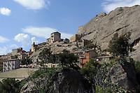 Sperlinga in Sizilien, Italien