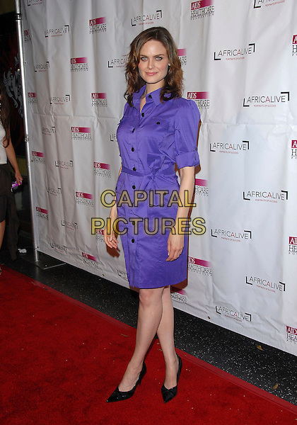 EMILY DESCHANEL.attends The Hot in Hollywood benefit for The AIDS Healthcare Foundation held at The Henry Fonda Music Box in Hollwyood, California, USA, August 12, 2006..full length purple shirt dress.Ref: DVS.www.capitalpictures.com.sales@capitalpictures.com.©Debbie VanStory/Capital Pictures