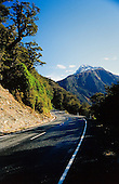The Road to Milford Sound with Mount Lyttle in the distance, Fiordland National Park, South Island, New Zealand.