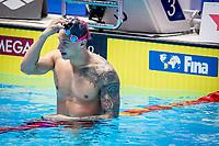 Caeleb Dressel of USA celebrates after winning the men's 100m butterfly final during 18th Fina World Championships Gwangju 2019 at Nambu University Municipal Aquatics Centre, Gwangju, on 27  July 2019, Korea.  Photo by : Ike Li / Prezz Images