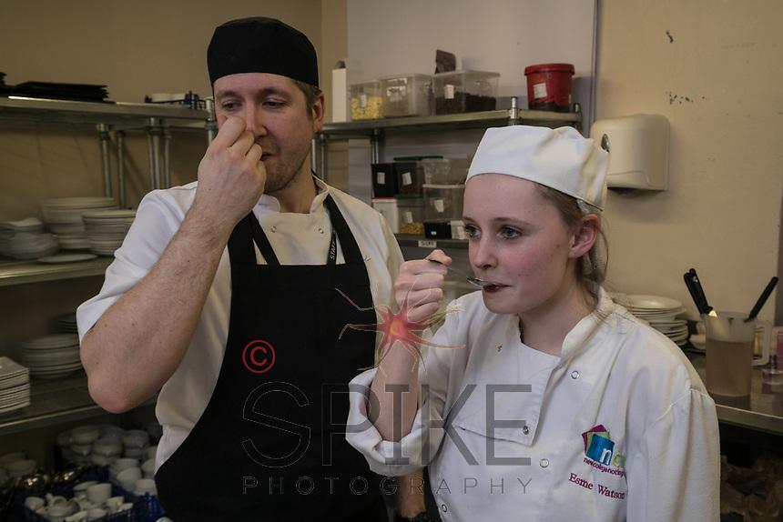 Head Chef Jim Tippett and student Esme Watson