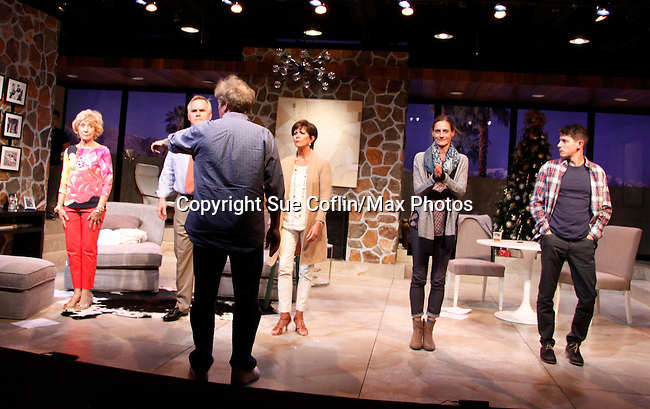 "Curtain Call: As The World Turns' Colleen Zenk stars along with the cast - Peggy J Scott, Malachy Cleary, Colleen Zenk, Brenda Withers and Davy Raphaely in ""Other Desert Cities"" at the tech rehearsal (in costume) on October 14, 2015 atr Whippoorwill Halll Thetre, North Castle Library, Kent Place, Armonk, New York.  (Photo by Sue Coflin/Max Photos)"