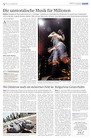 Die Presse (Austrian daily) on Bulgarian music, 2011.10.20. Photo: Martin Fejer