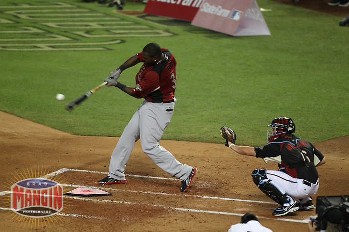 PHOENIX - JULY 11:  David Ortiz competes during the 2011 MLB Home Run Derby at Chase Field on July 11, 2011 in Phoenix, Arizona. Photo by Brad Mangin