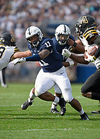 STATE COLLEGE, PA - SEPTEMBER 1:  Penn State true freshman LB Micah Parsons (11) sprints to the ballcarrier. The Penn State Nittany Lions defeated the Appalachian State Mountaineers 45-38 in overtime on September 1, 2018 at Beaver Stadium in State College, PA. (Photo by Randy Litzinger/Icon Sportswire)